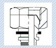 Замер трубной дюймовой резьбы BSP